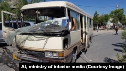 The bus was bringing employees of the Ministry of Religious Affairs to work when the explosion took place.