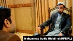 تادین خان قوماندان امنیه کندهار حین مصاحبه با رادیو آزادی. 01 March 2019