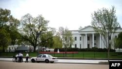 Pamje e pjesës ballore të Shtëpisë së Bardhë në Uashington