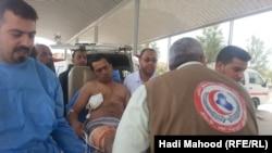 أحد المصابين في إنفجار ينقل الى مستشفى السماوة