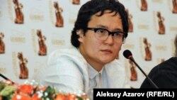 Кинорежиссёр Эмир Байгазин в составе жюри 9-го международного кинофестиваля «Евразия». Алматы, 16 сентября 2013 года.