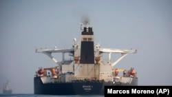 ابرنفتکش حامل نفت ایران در زمان توقیف با پرچم پاناما و نام گریس ۱ در حرکت بود