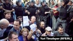 Москва, Триумфальная площадь, 31 августа 2011