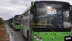 Автобусы для эвакуации.