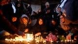 گرامیداشت یاد قربانیان پرواز ۷۵۲ در مقابل دانشگاه امیر کبیر تهران - ۱۷ دیماه ۱۳۹۸
