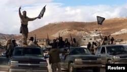 Боевики группировки «Джабхат ан-Нусра», аффилированной с террористической организацией «Аль-Каида», в Ливане. 1 декабря 2015 года. Иллюстративное фото.