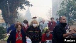 Евакуація людей у Хайфі, Ізраїль, 24 листопада 2016 року