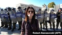 Архивска фотографија - Новинарски протест, 23 октомври, 2013.