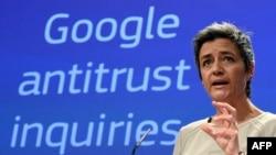 Глава антимонопольного ведомства Еврокомиссии Маргарет Вестагер предъявила многомиллионные претензии Google
