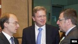 Антонио Милошоски и Штефан Филе во Брисел