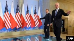 Joe Biden gjatë vizitës së tij në Poloni