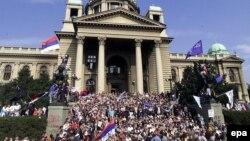 Ulazak opozicije u zgradu Skupštine SR Jugoslavije 5. oktobra 2000. godine