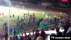 """""""Metallurg"""" stadionidagi mushtlashuv payti"""
