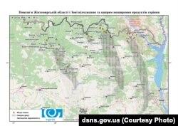 Мапа пожеж у Житомирській області та зоні відчуження ЧАЕС. 20 квітня 2020 року