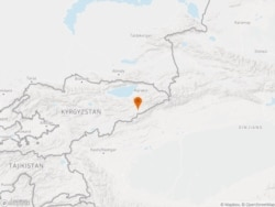 The location of the Kumtor gold mine