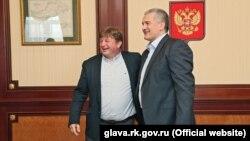 Стефано Вальдегамбери и Сергей Аксенов, 6 июля 2017 года