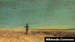 Карл Шпіцбэрг, «Плоскі краявід з пудзілам» (1845)