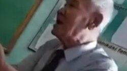 Домла талабаларини дарс пайтида онасидан сўкаётгани акс этган видео тарқалди