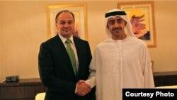 Ministri i Jashtëm i Kosovës me homologun e Emiratave të Bahskuara Arabe, Sheik Abdullah Zayed al Nahyan, Nju Jork, 23 shtator, 2012