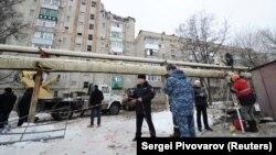 Astăzi la locul accidentului la Șahtî în regiunea Rostov