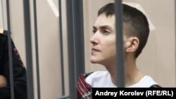 Надежда Савченко на заседании суда
