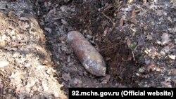 Авіабомба, знайдена в Севастополі, 24 листопада 2017 року