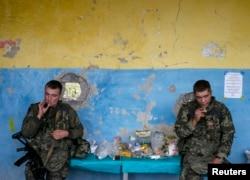 Блокпост украинской армии в Славяносербске, Луганская область