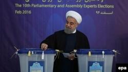 Президент Ҳасани Рӯҳонӣ яке аз ширкатдорони интихоботи рӯзи 26 феврал буд