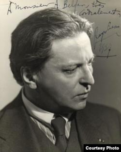 Fotografie a lui George Enescu din 1937
