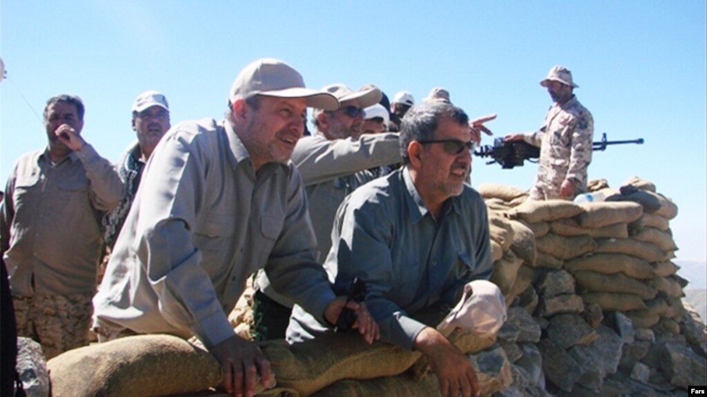 IRGC commanders Mohammad Pakpour and Mohammad Taghi Osanlou (left to right) in an operation in northwestern Iran.