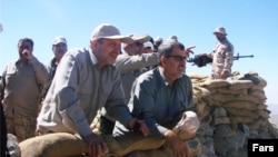 IRGC commanders; Mohammad Pakpour and Mohammad Taghi Osanlou in an operation in northwest of Iran, undated.