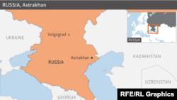 Russia, Astrakhan - Locator Map