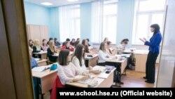 Урок в одном из московских лицеев