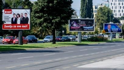 Bilbordi nekih od kandidata na predstojećim izborima, Sarajevo