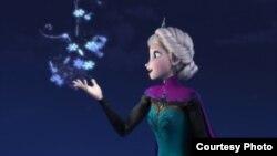 Disneydə çəkilən bir animasiya filmindən