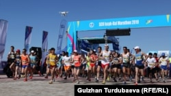 Архивдик сүрөт. «Run the Silk road-2019» марафону.