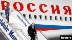 Путин в аэропорту Афин