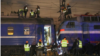 Video of the crash scene showed that a least four carriages had derailed.