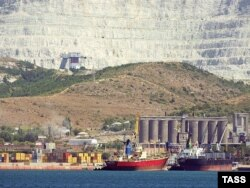 Terminalul petrolier din portul Novorossiisk