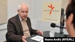 Dževad Sabljaković u beogradskom studiju RSE, oktobar 2016.