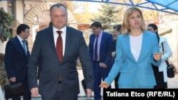Igor Dodon la Comrat, alături de guvernatoarea Irina Vlah cu ocazia vizitei unei delgații parlamentare ruse