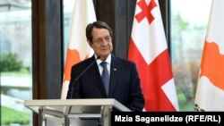 Президент Кипра Никос Анастасиадис в резиденции президента Грузии