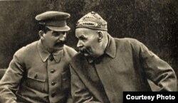 І. Сталін і М. Горкі