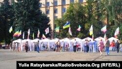 Безстрокова акція протесту проти арешту Тимошенко, Дніпропетровськ, 11 серпня 2011 року
