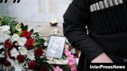 Վրաստան - Թբիլիսիում հարգանքի տուրք են մատուցում աբխազական պատերազմի ժամանակ զոհված զինվորների հիշատակին, արխիվ