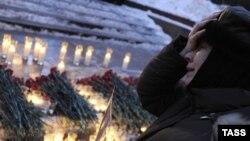 """Акция в Москве в память о погибших в """"Домодедово"""""""
