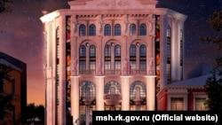 Проект нового здания на месте бывшего Театра кукол