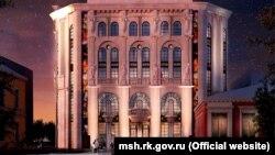 Ескіз проекту нової будівлі на місці Театру ляльок у Сімферополі