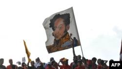 Акция поддержки Уго Чавеса его сторонниками