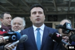 Macedonian Prime Minister Zoran Zaev (file photo)